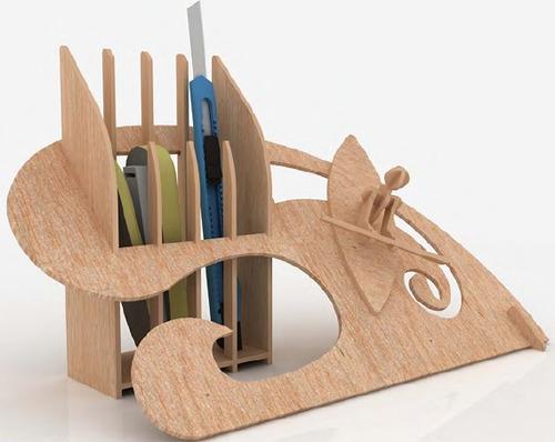 portaplumas y tarjeteros mdf madera rompecabezas 3d