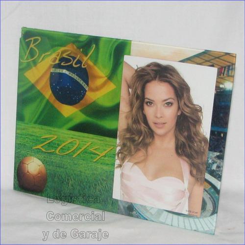 portaretrato brasil 2014 futbol 23x18cm mundial foto estadio