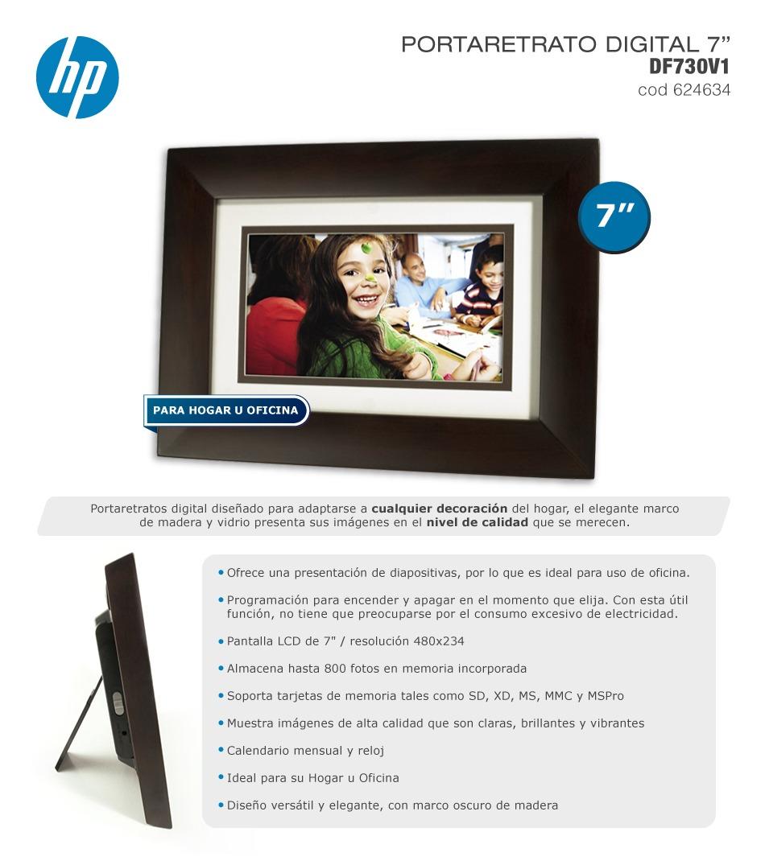 Portaretrato Digital Hp 7 Pulgadas Marco Madera - $ 1.999,00 en ...