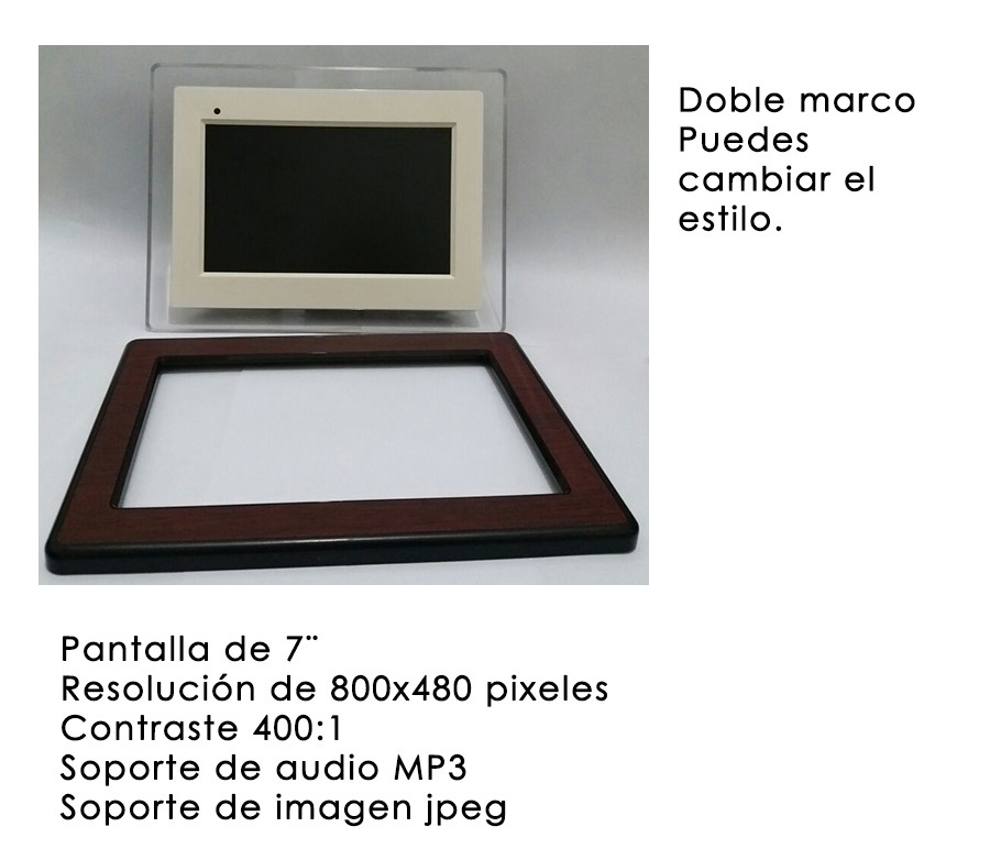 Portaretrato Digital Original Hp Df750 7´´ C/ Doble Marco - $ 1.899 ...
