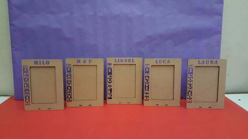 portaretrato fibrofacil personalizados foto 13x18 x 10 unid.