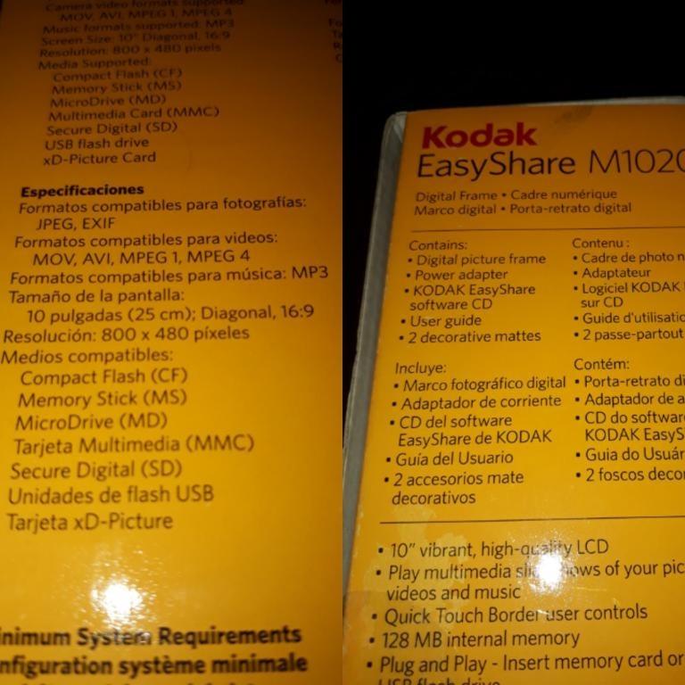 Portaretrato Kodal M1020 10 128mb Para Repuestos O Reparar - Bs. 170 ...