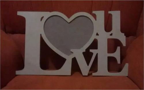 portaretrato love u en mdf crudo novios parejas enamorados