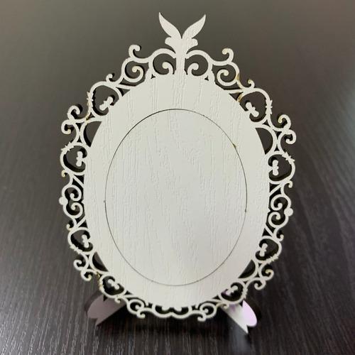 portaretrato  mdf importado 2 vistas, blanco y natural 10 cm 15 modelos a escoger