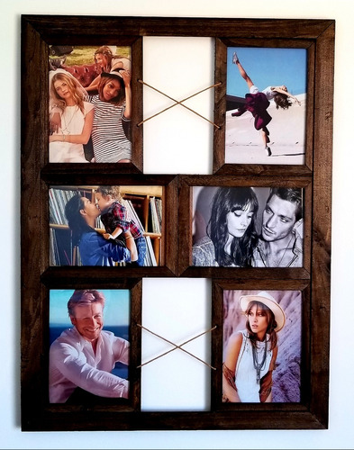 portaretrato multiple x6 fotos cuadro de pared colgante porta retrato