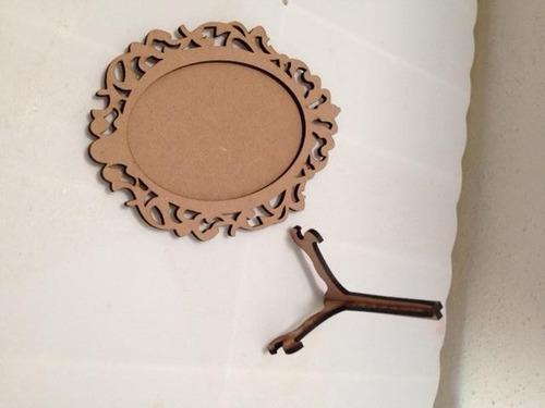 portaretrato ovalado vintage 20 cm  20 piezas