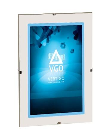 portaretrato vgo - mg clip de vidrio sin marco 30x40 - local