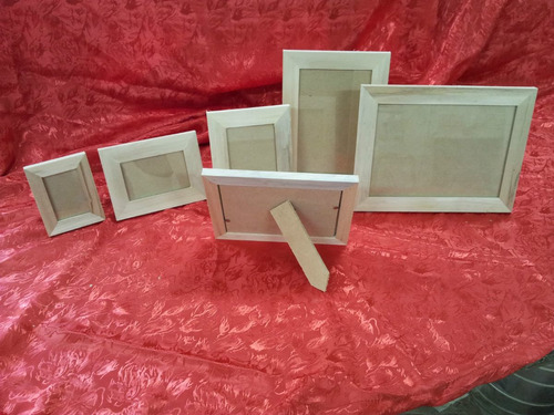 portaretratos madera alamo x10 /u  6x9 chata 2cm