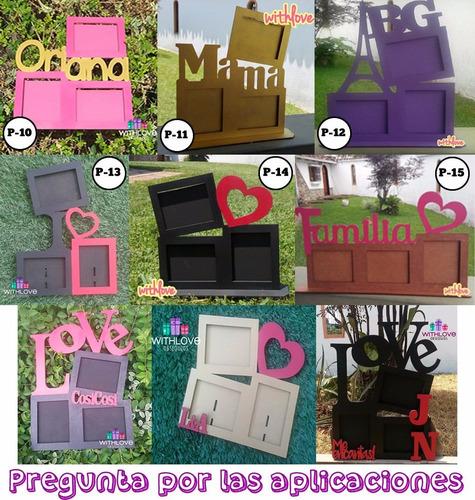 portaretratos personalizados mdf 8x6 - regalos recuerdo