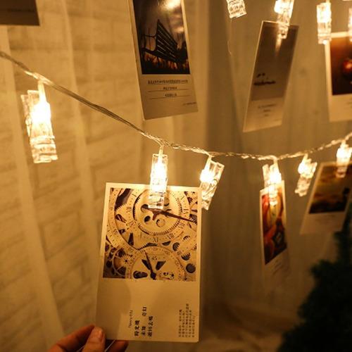 portaretratos pinzas con luces led fotos decorativas 2 m