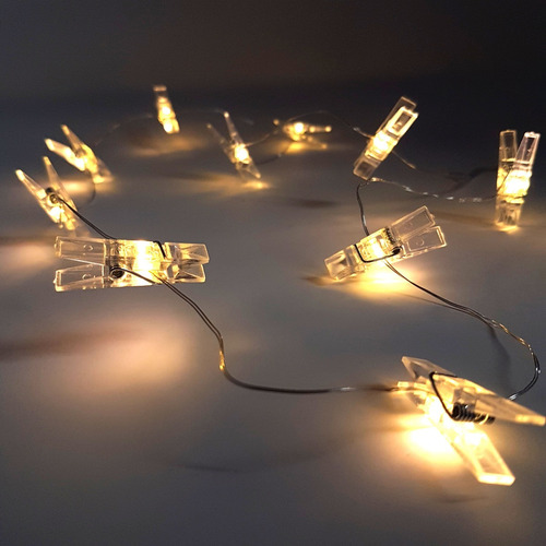 portaretratos pinzas luces led decorativas fotos 1 m adorno