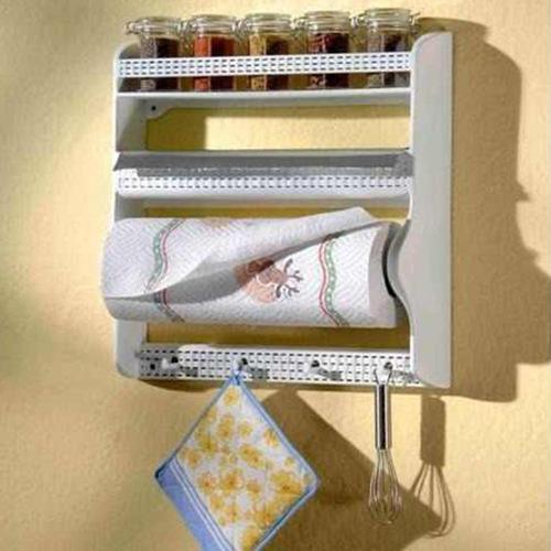 portarollos organizador de rollos de papel, aluminio y espec
