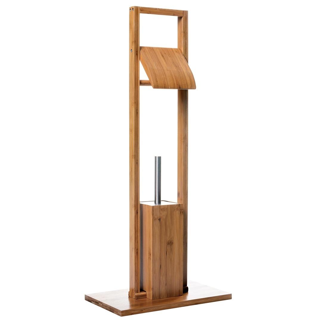 Portarollos Para Papel De Ba O De Bambu Cepillo Para Wc  # Muebles Bambu Bano