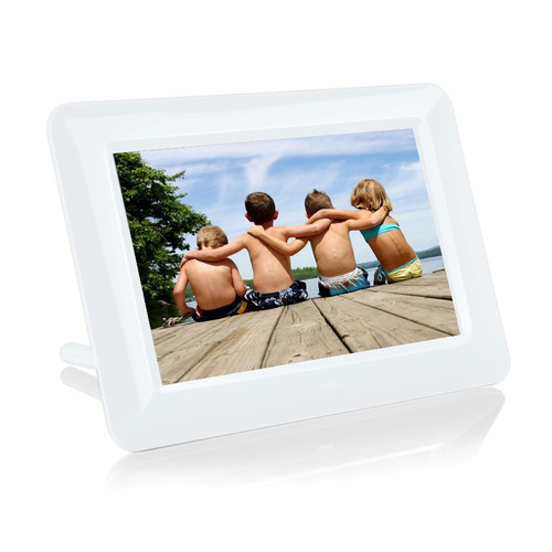 portarretratos digital multimedia pantalla lcd 7'', blanco