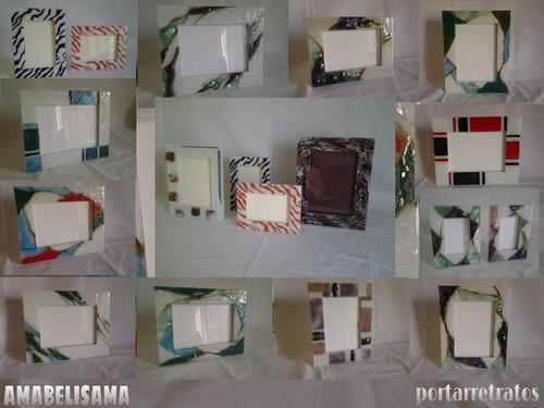 portarretratos para foto 15x21 vitrofusion marco de vidrio