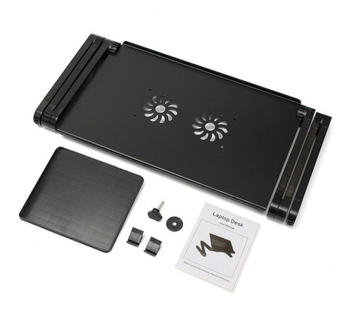 portátil 360 dobrável laptop mesa computador mesa 2 buraco
