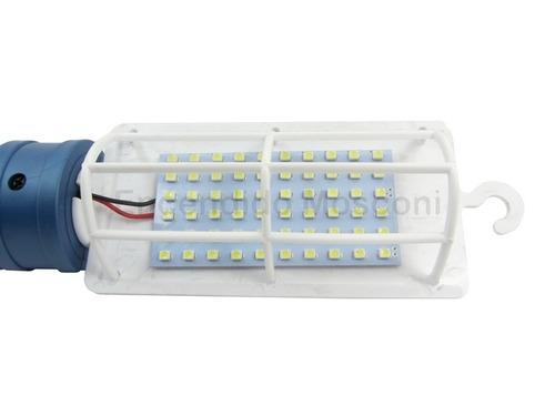 portatil de led 12v 60 led con pinzas