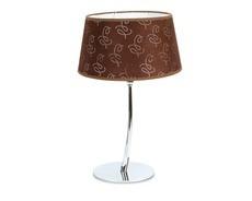 portátil lampara de mesa, base metalcromado pantalla textil