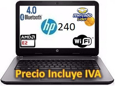 portatil laptop hp 240 g5 intel celeron 4gb 500gb incl. iva