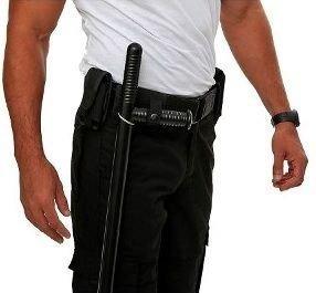 portatonfa táctico cordura aro de plastico correaje policial