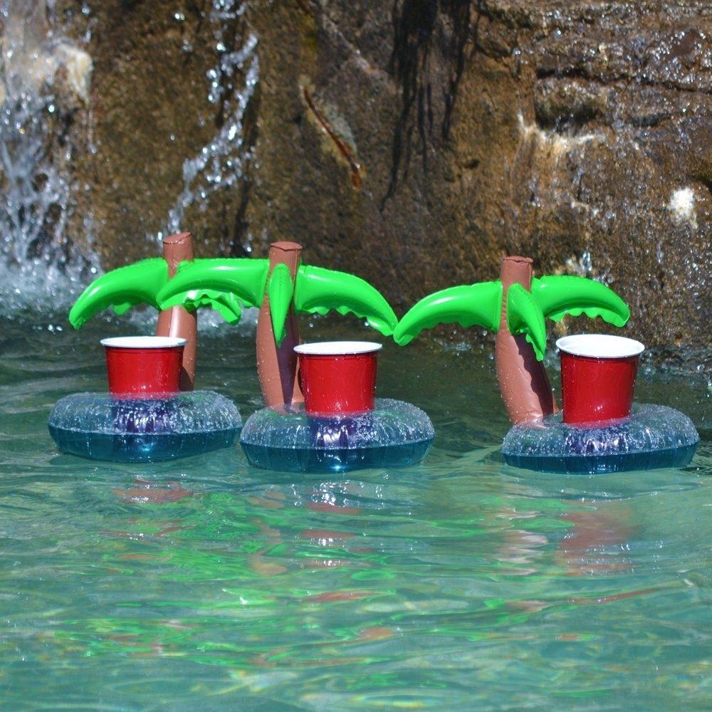 Portavaso inflable para alberca piscina porta vaso palma for Vaso piscina