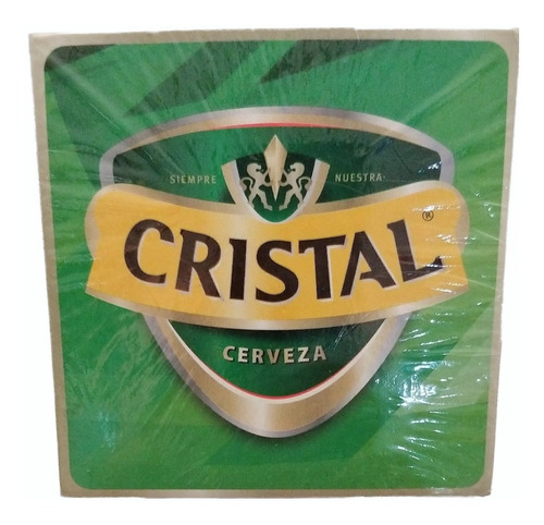 portavasos de cerveza cristal
