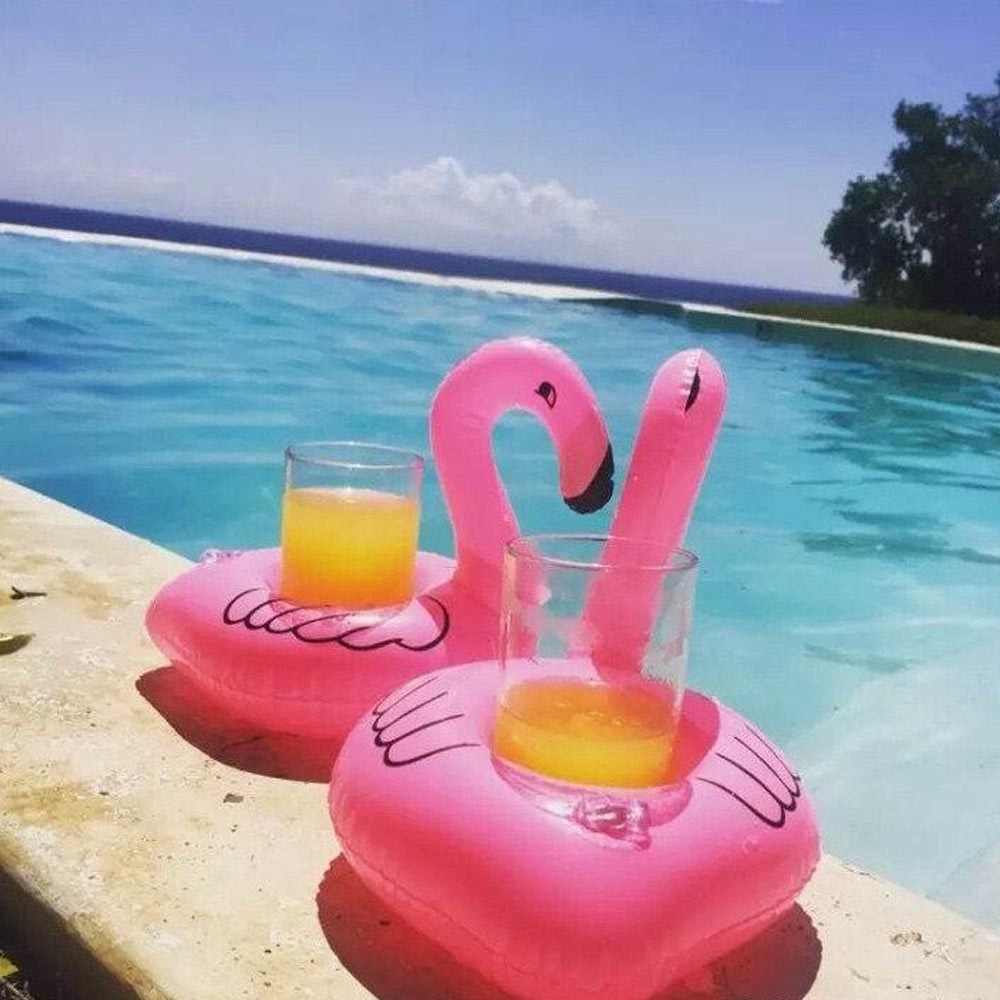 Portavasos inflable flamingo flotador piscina pool party for Party in piscina