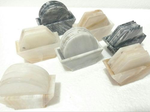 Portavasos piedra natural onix y marmol piezas exclusivas for Marmol piedra natural