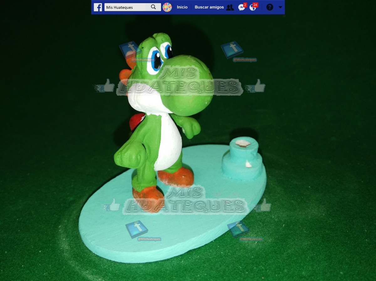 Portavela Cumpleanos Mario Bros Yoshi 89 00 En Mercado Libre