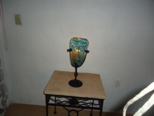 portavela de vidrio