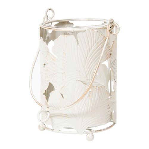 portavela en forma de cilindro hojas blancas