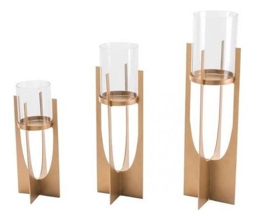 portavela modelo equis chico - dorado këssa muebles.