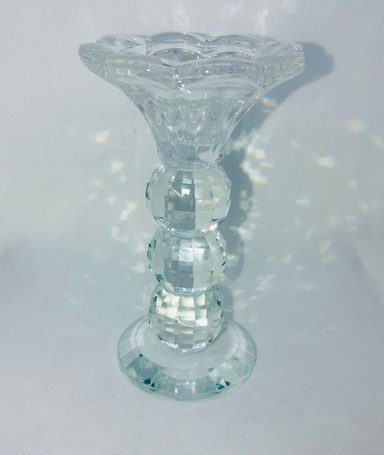 portavela pilar candelabro cristal / vidrio 12 cm boda caja