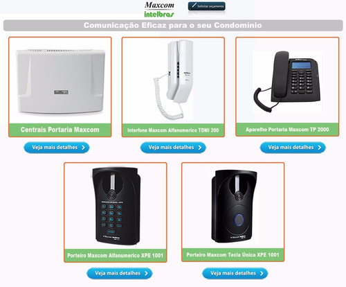 porteiro eletrônico interfone xpe 1001 plus intelbras