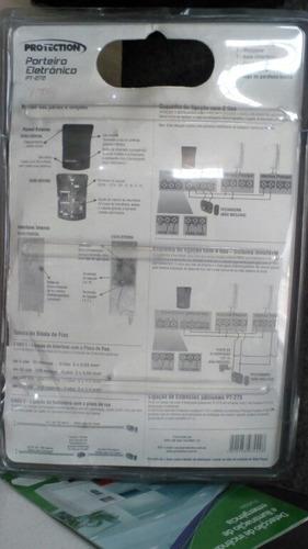 porteiro eletrônico protection pt-272 inviolável kit interfo