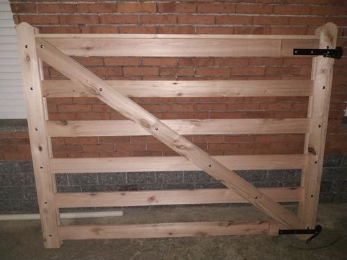 porteras de madera a medida