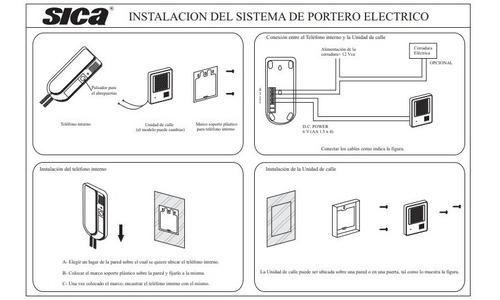 portero electrico sica antivandalico 916145 aluminio