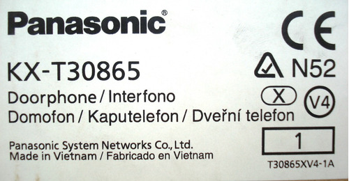 portero frente para centrales conmutador panasonic kx-t30865
