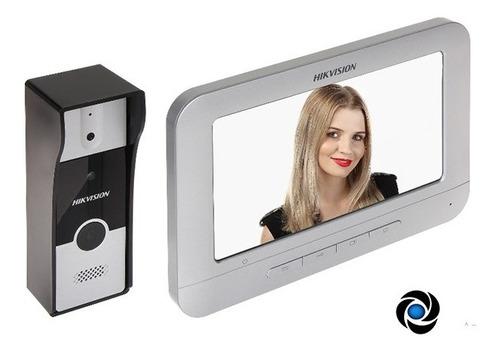 portero visor hikvision lcd 7 hd camara 720p + frente exteri