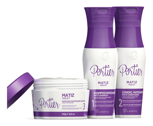 portier matiz violet - 3 produtos + brinde