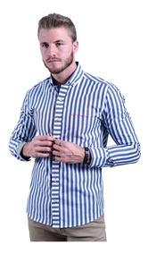 daa09c8372541 Camisa Azul Petroleo Hombre - Ropa, Bolsas y Calzado en Mercado ...