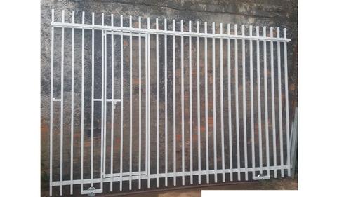 portão em metalon galvanizado à pronta entrega
