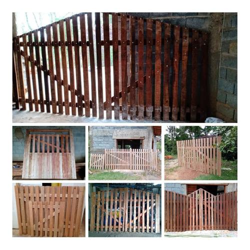 portões rústicos de madeira sob encomenda