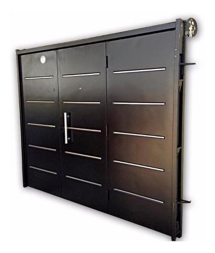 porton chapa inyectada garage levadizo barral 240x200 negro