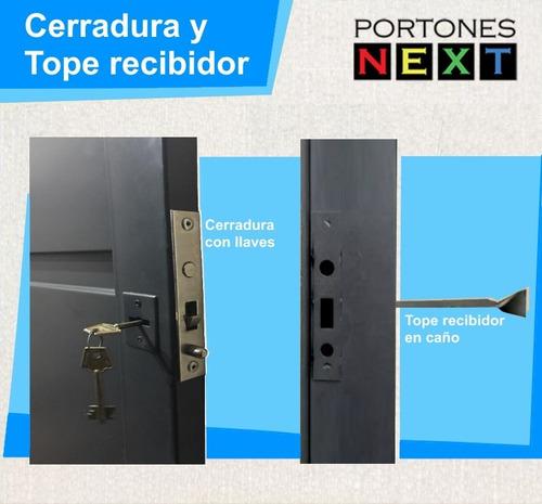 porton corredizo 2,55 x 2,10 automatico + puerta 0,90 x 2,10