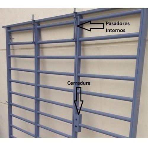 portón de abrir garage reja tubo horizontal 240x200