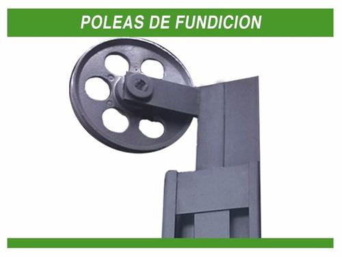 portón de chapa levadizo de 2.40 x 2.00 automatizado