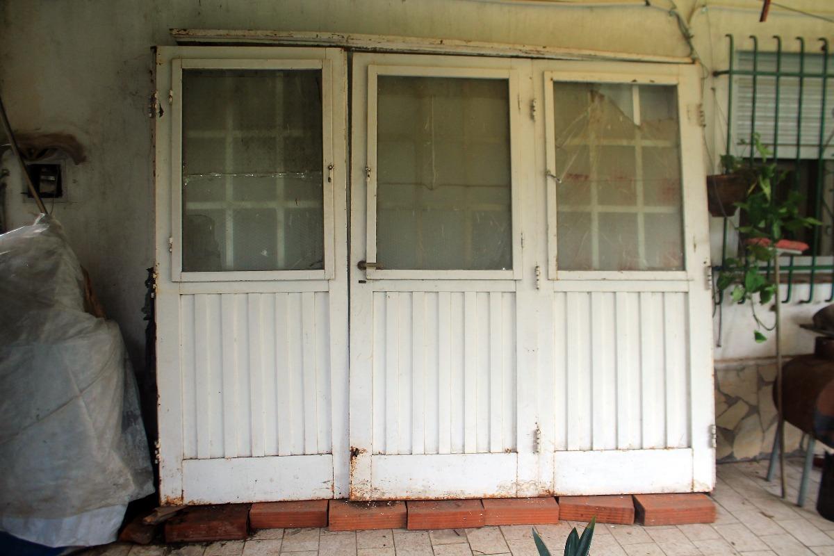 Portón De Chapa Plegable 3 Hojas C/marco, Cerradura Y Llave ...
