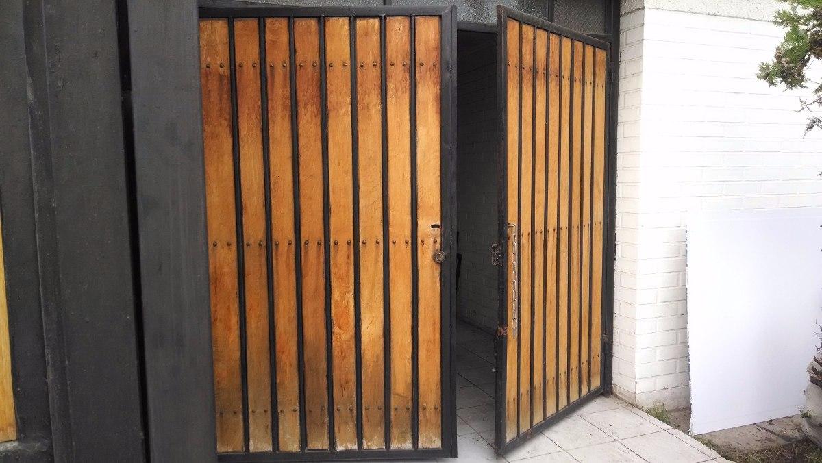 Port n de fierro madera listo para instalar en for Bar de madera y fierro