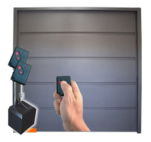porton levadizo garage de chapa con motor suchi 270x235